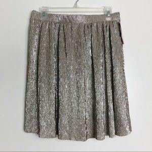 Xhilaration A Little Party Gold Shimmer Skirt